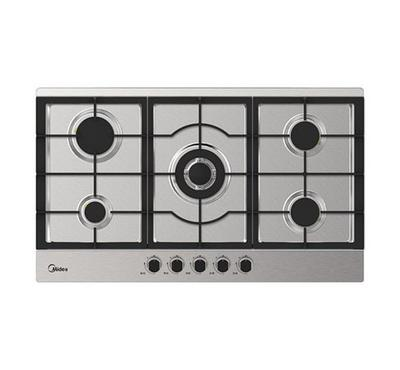 Midea 90cm Built-in Gas Hob Stainless Steel. 5 Gas Burners