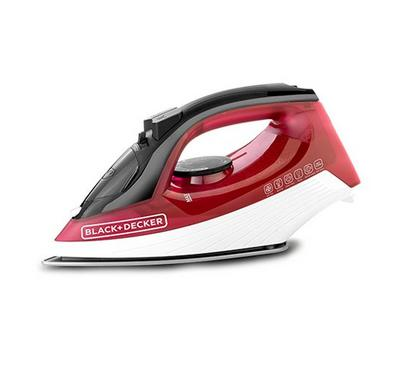 B&D Steam Iron 2000W Red. Non-Stick Plate,30g/min,Self Clean