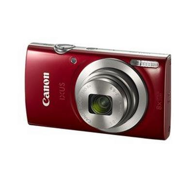 IXUS 185 RED, 20 MEGA PIXELS, 8X Optical Zoom, HD VIDEO, DIGIC4+ PROCESSOR