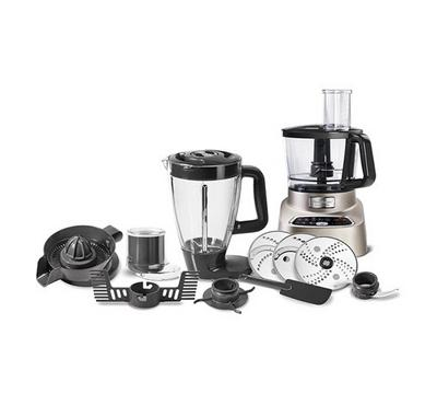 Moulinex Food Processor , 1000 Watts, 31 Functions, 2 speed, 3Ltrs Bowl Capacity, Grey