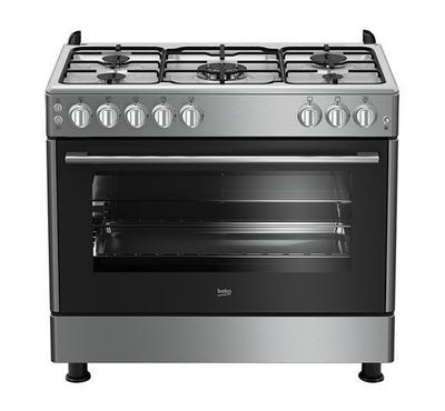 Beko Gas Cooker 5 Gas Burner 90×60, inox