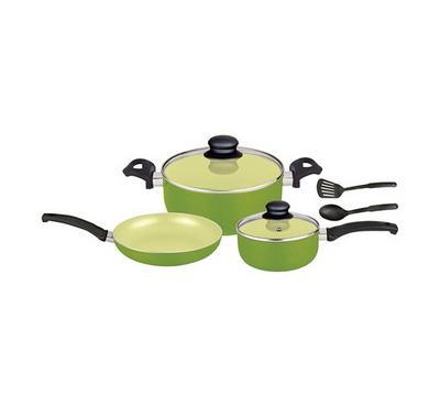 أوبتيما، طقم أدوات طبخ سيراميك 7 قطع، أخضر