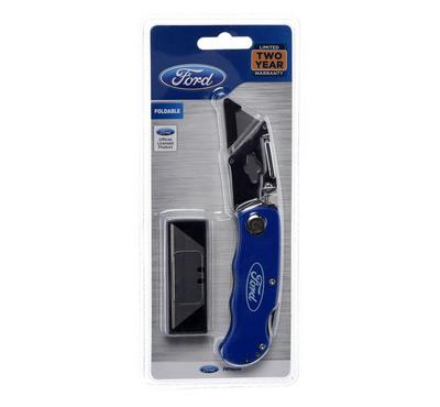 Ford Folding Utility knife with folding lock back for safety