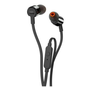 JBL In Ear Headphones PureBass Sound, 1-button remote with microphone,  Black