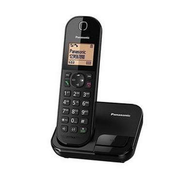 Panasonic Cordless phone, caller ID, call block, phonebook, handfree speaker, redail memory, Black