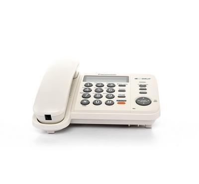 Panasonic Corded Pnhone, Caller ID compatible, Phonebook, Handfree speaker, redial memory, White