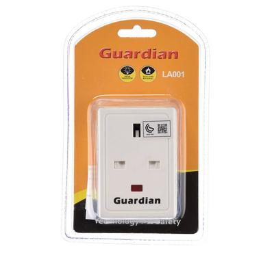 Guardian 3 ways adapter with fuse. PC material UK plug and Socket