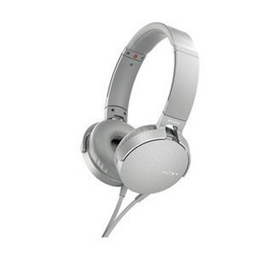 SONY XB550AP Extra Bass Headphones, White