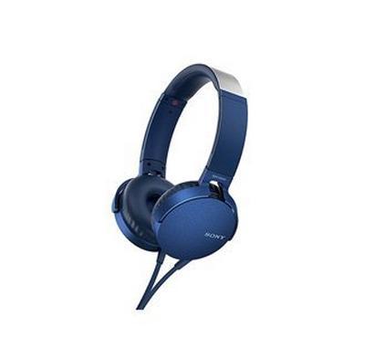 SONY XB550AP Extra Bass Headphones, Blue