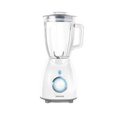 Sencor 1.7L Blender With 2 Mills Glass Jar 500W White
