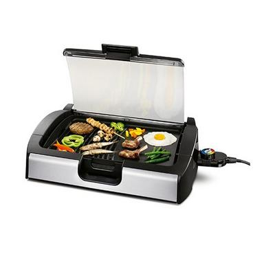 Princess Electric Table Top Grill Glass Lid 2300W Black