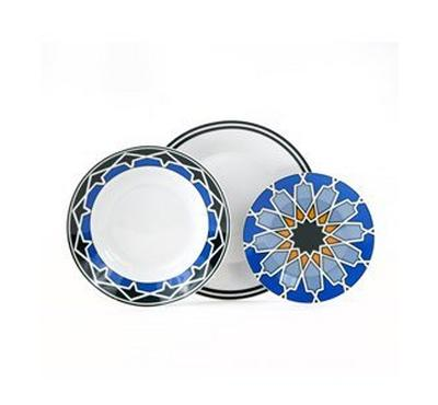 Zokhruf Ashkal Color Dinner Set 18Pcs, Serve 6 Persons