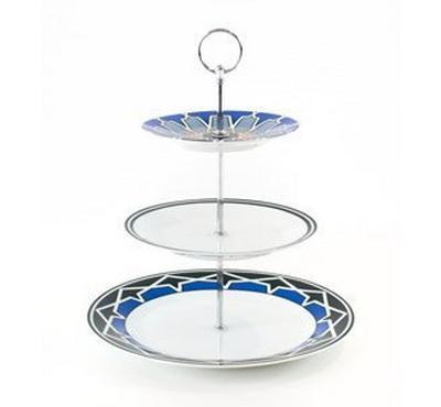 Zokhruf ASHKAL Color Porcelain 3 Tiers Cake Stand