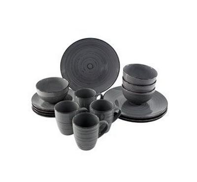 La Mesa Dinner Set 16Pcs Grey Color