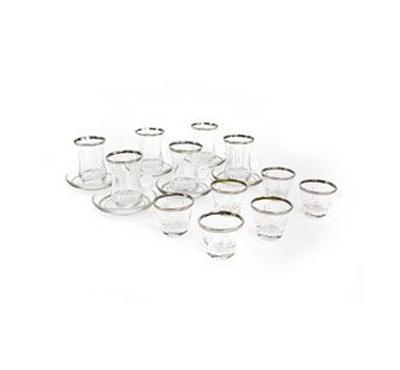 طقم اكواب شاي تركى زجاجى 18 قطعة