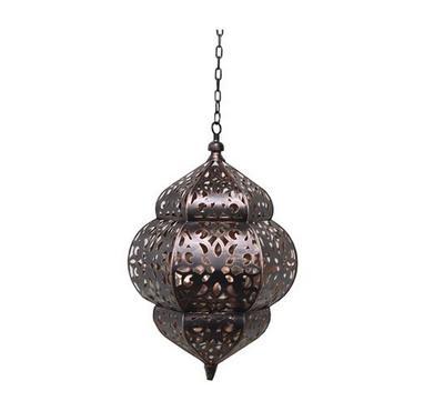 Moroccan Hanging Lantern Metal Black
