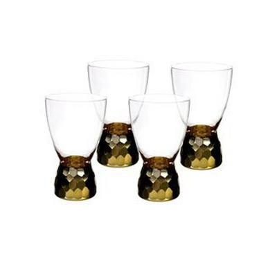 La Mesa Clear Dof Set 4Pcs, With Gold Cutting and Luster