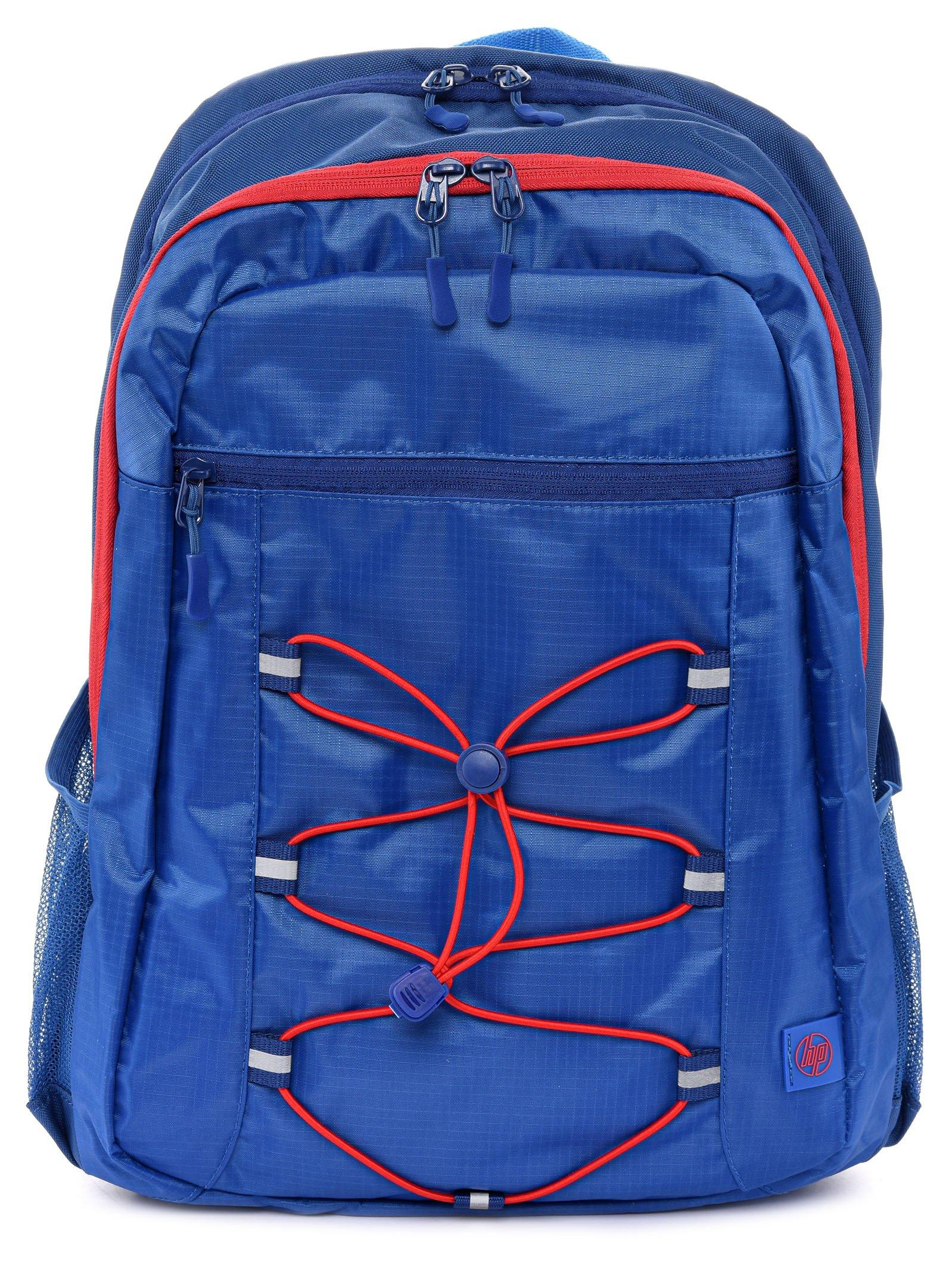HP 15.6 Active Backpack, Marine Blue/Coral Red - eXtra Oman