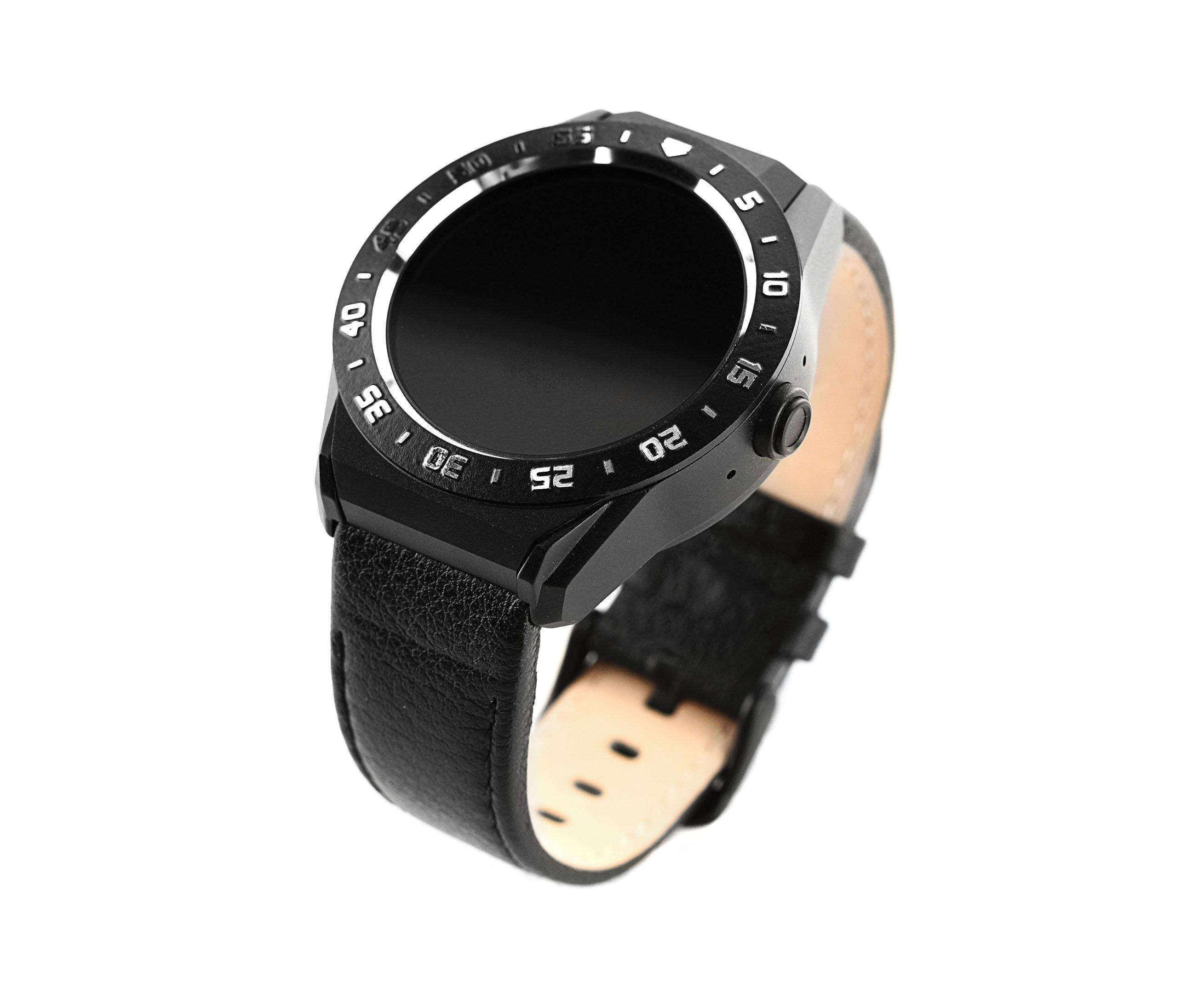Smart watch R9 black metal leather bracelet