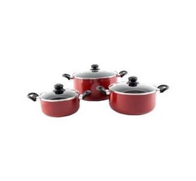 ALBERTO 6pcs nonstick cookware set / Red color