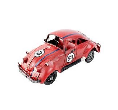 Replica car design l:32.5xw:13.5cm iron white