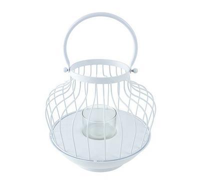 Floating lantern pont metal white