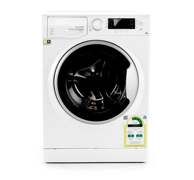 Ariston Natis Front Load Washer, 10KG, White/Silver Door