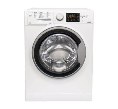 Ariston Natis Front Load Washer, 8KG, White/Silver Door