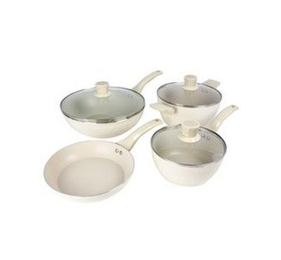 Alberto Cookware Set of 7Pcs, Cream