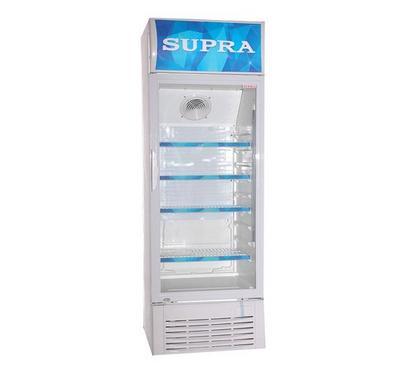 مبرد سوبرا باب واحد 380 لتر، 4 رفوف، أبيض
