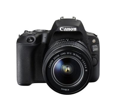 Canon EOS 200D DSLR, 24 Megapixels, 18-55DC Lens, WiFi, Bluetooth, Black