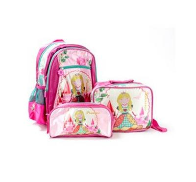 Nice 14 Inches Backpack, Lunch Bag, Pencil Bag