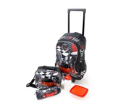 Nice 18 Inches Trolley Bag, Lunch Bag, Pencil Bag, Lunch Box and Water Bottle