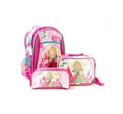 حقيبة ظهر للاطفال 16 بوصة, حقيبة طعام, مقلمة