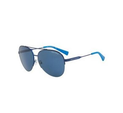 Armani Exchange Matte Blue  Front  With Blue  Lens