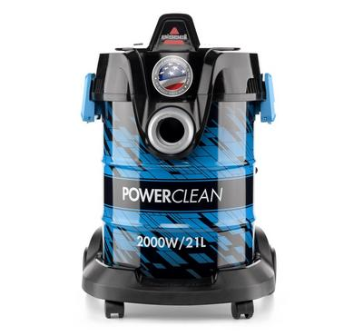 Bissell Power Clean Drum Vacuum Cleaner, 2000W, 21Liter, Weight 5kg, 220- 240V, Blue and Black