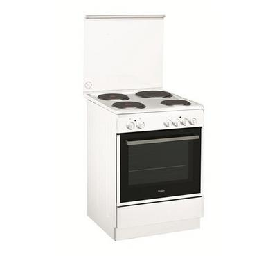 Whirlpool 60x60cm Electric Cooking Range Half Safety White