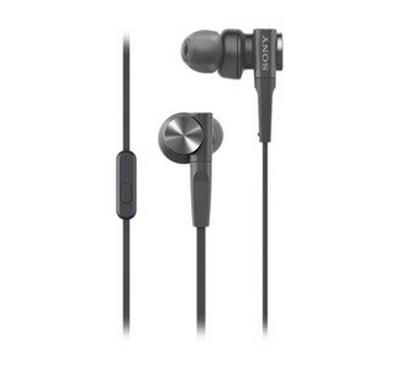 Sony Extra Bass In-Ear Headphones, compatible with smartphone with in-line mic.