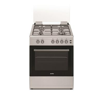 Simfer 60x60cm Gas Cooking Range Full Safety Stainless Steel