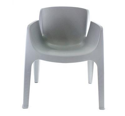 نايس كرسى بلاستيك مقاس 54X58X82/45سم لون رمادي