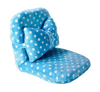 Nice Floor Chair Ribbon cushion Blue