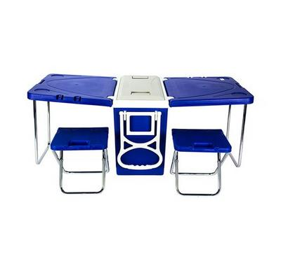 Nice Cooler Box 28 Litre Camping Table Set w/Wheels & Handle