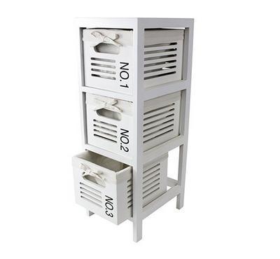 3 Drawer Cabinet, White