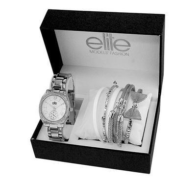 Elite Ladies Bracelet Silver Watch
