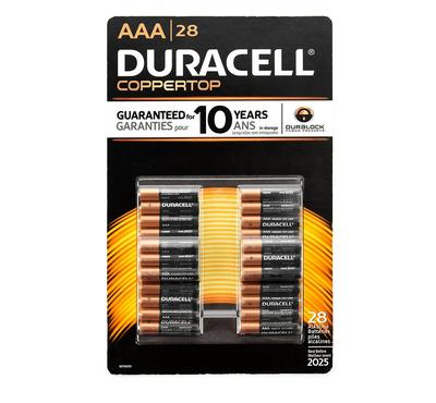 MN24TB28--Duracell Copper Top All-Purpose 28 AAA Alkaline Batteries