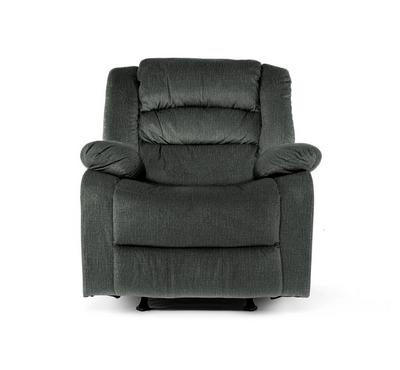 Recliner Chair Manual With Full Push Back, Dark Green