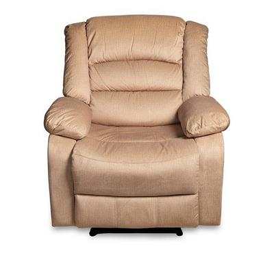 Recliner Chair Manual With Full Push Back, Cream color