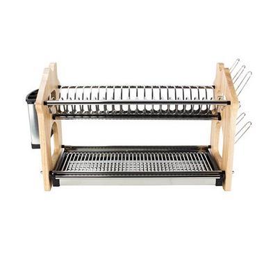 Alberto Dish Rack 2 Layers Stainless Steel