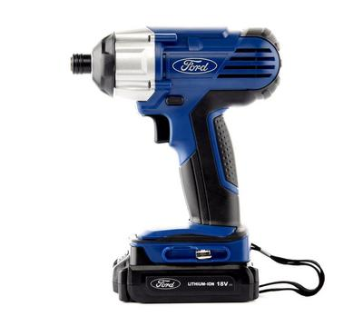 Ford Cordless Impact Drill/Screwdiver, 18V, Quick Charger 1 Hour
