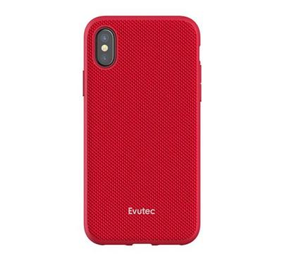Evutec AERGO Series iPhone X Back Cover With Car Mount Red